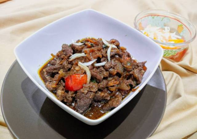 Beef Teriyaki Hokben plus acar homemade tanpa cuka
