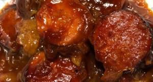 Crockpot Sweet and Sour Keilbasa