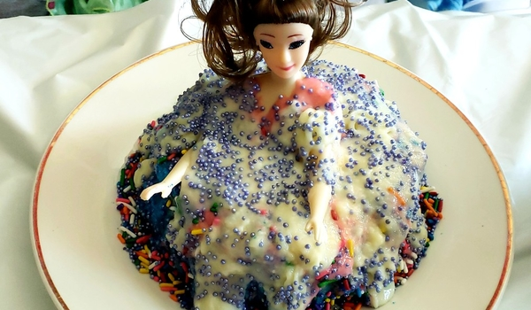 Triple layered doll cake