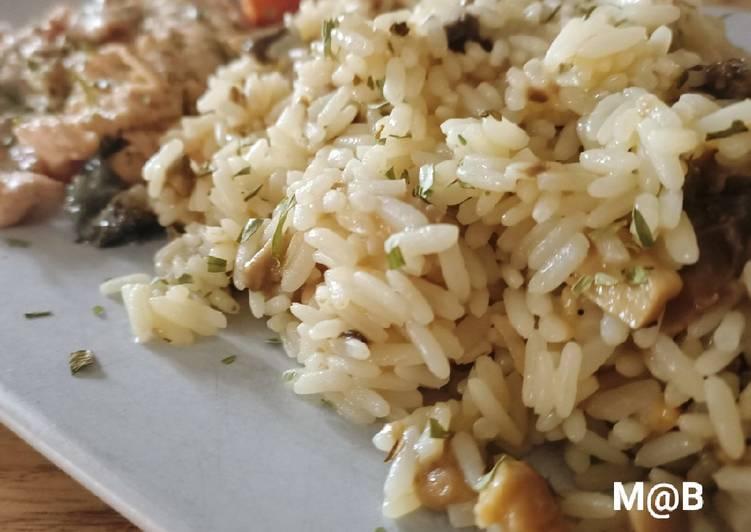Riz champignons façon risotto...😋😋😋