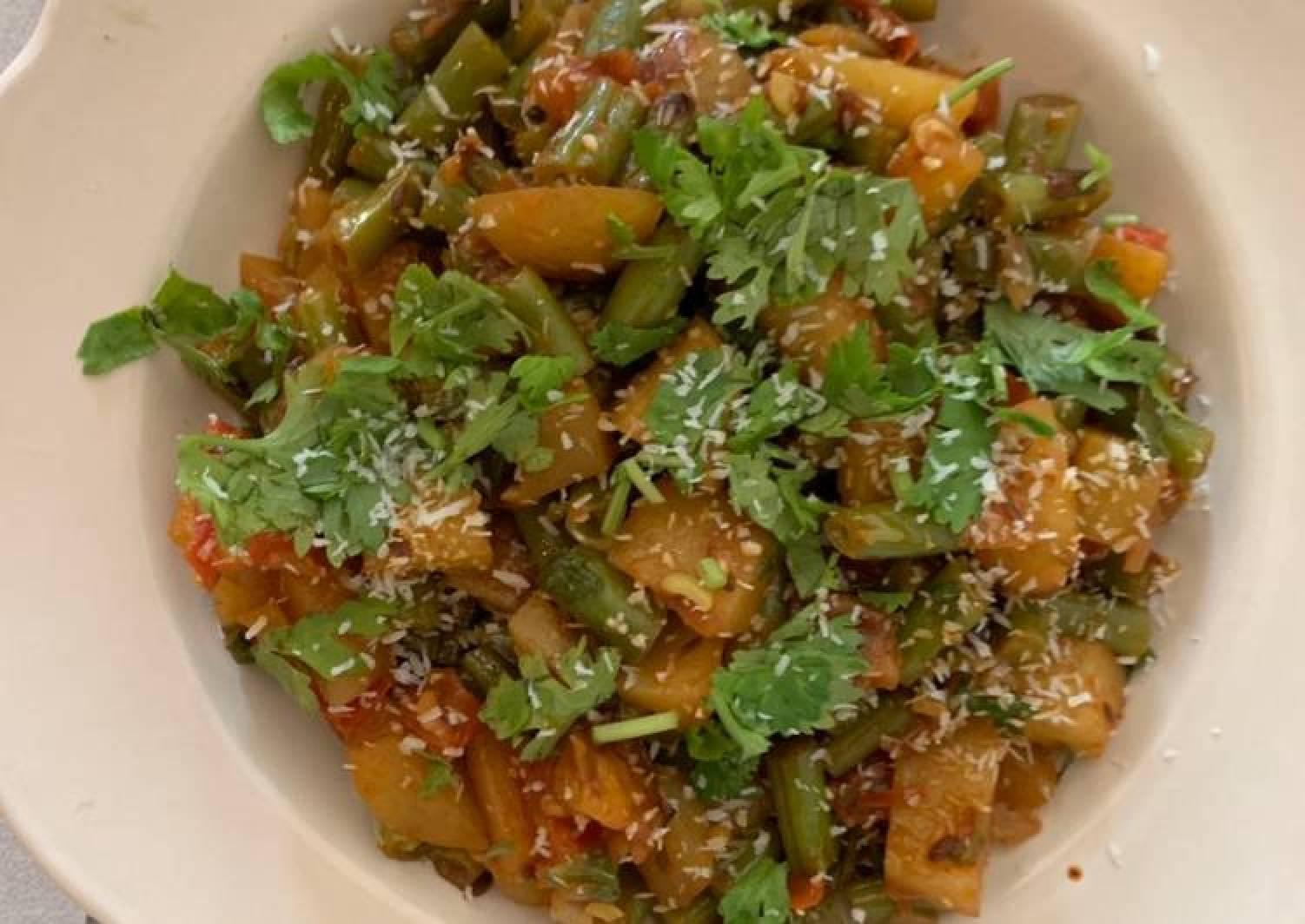 Aloo and French bean Dry sabzi
