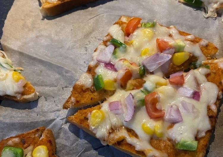 Open pizza sandwich
