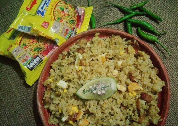 Easiest Way to Make Jamie Oliver Maggi Spicy mixed Fried Rice 🍚