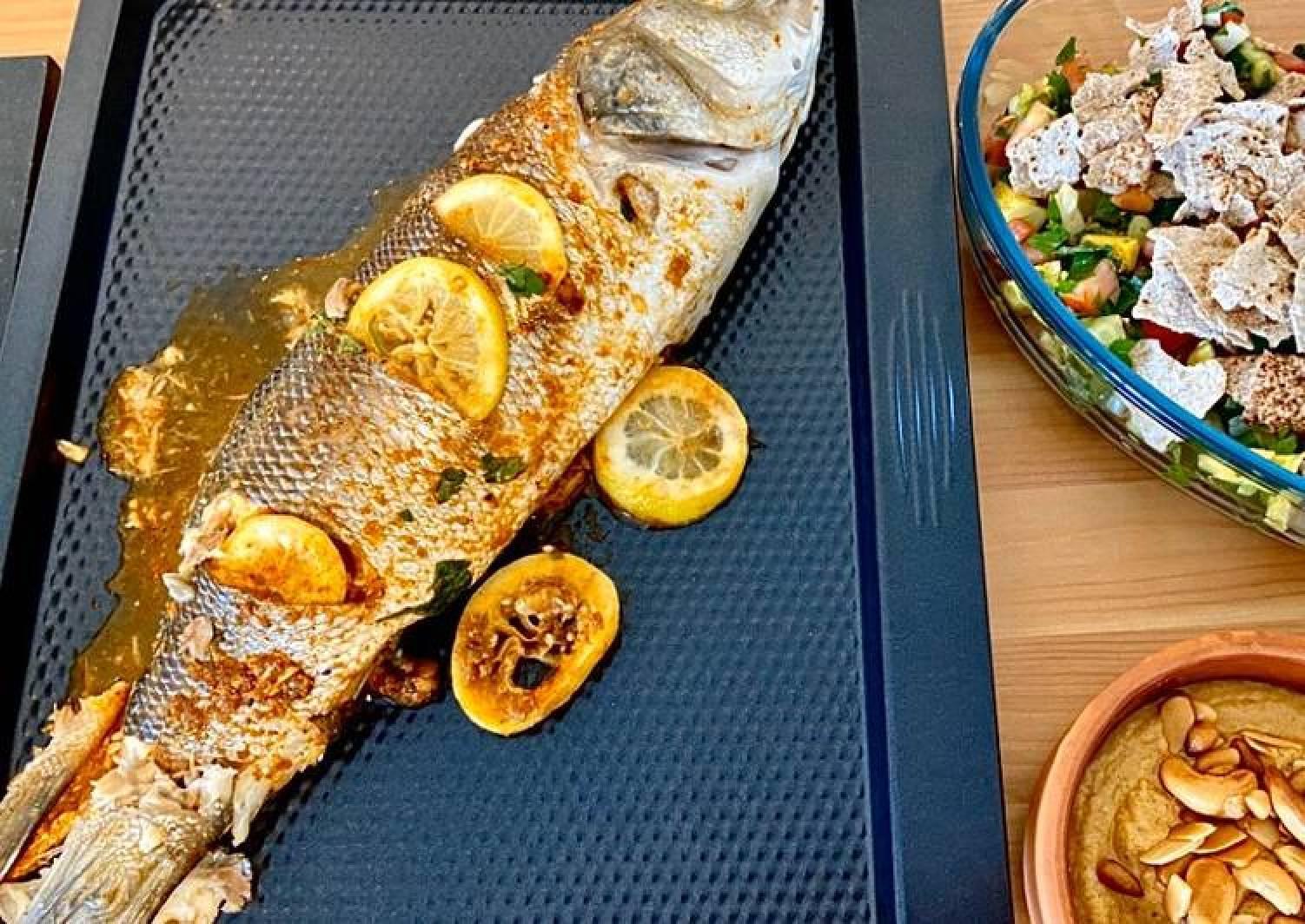 Lebanese Samkeh Harra (spicy fish)