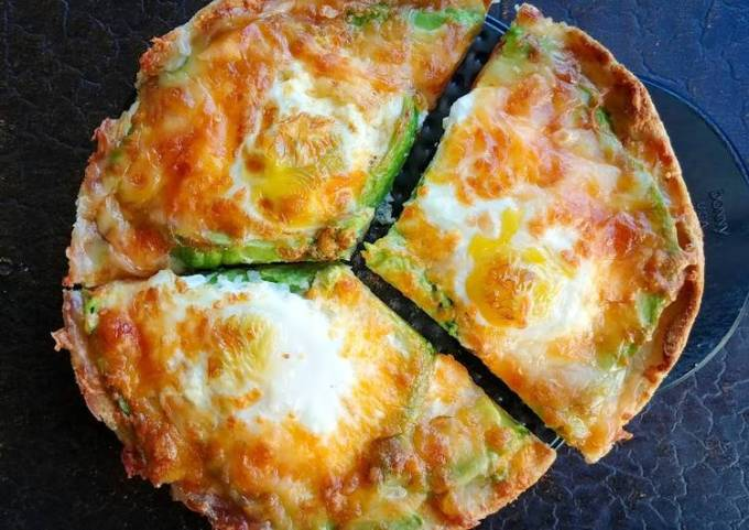 Avocado and Egg Pizza Toast