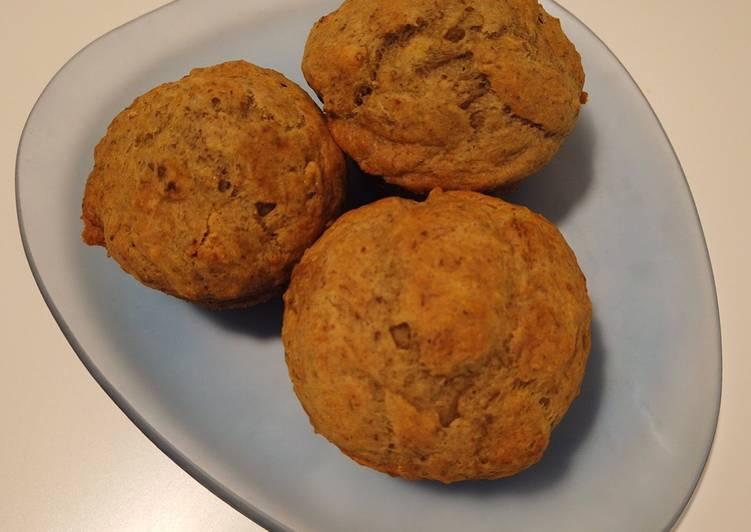 Banana Flaxseed Muffins (NO SUGAR)