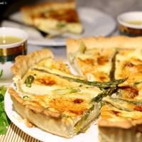 Tarta de Brie y Espárragos Trigueros al estilo Borgoña