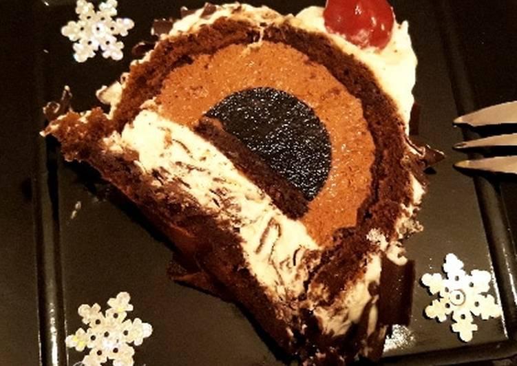 ☆Bûche Forêt Noire☆ Dessert de Noël☆