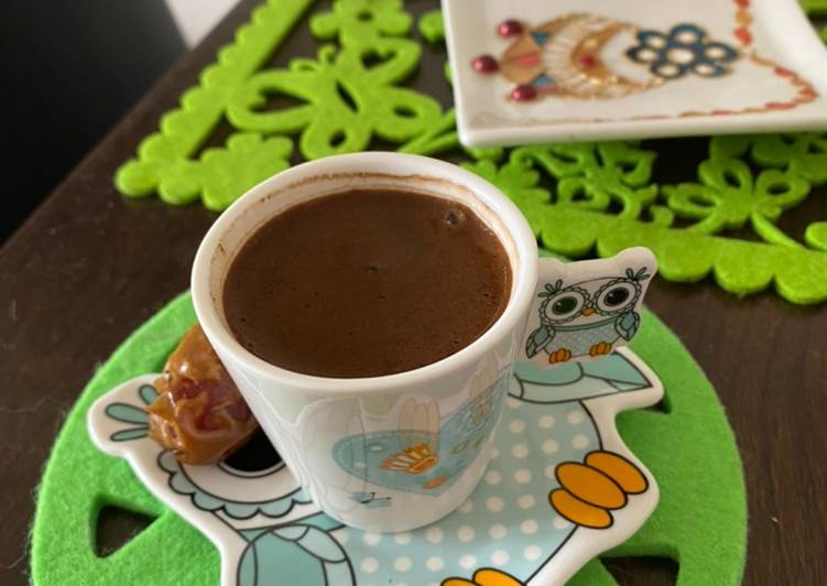 How to Make Ultimate Turkish coffee with dried dates in the morning