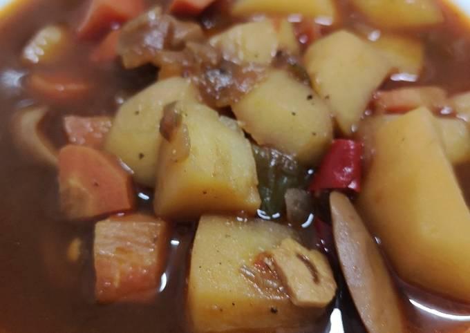 Der einfache Weg Um Superschnelle Hausgemachte Veganer Suppeneintopf zu machen