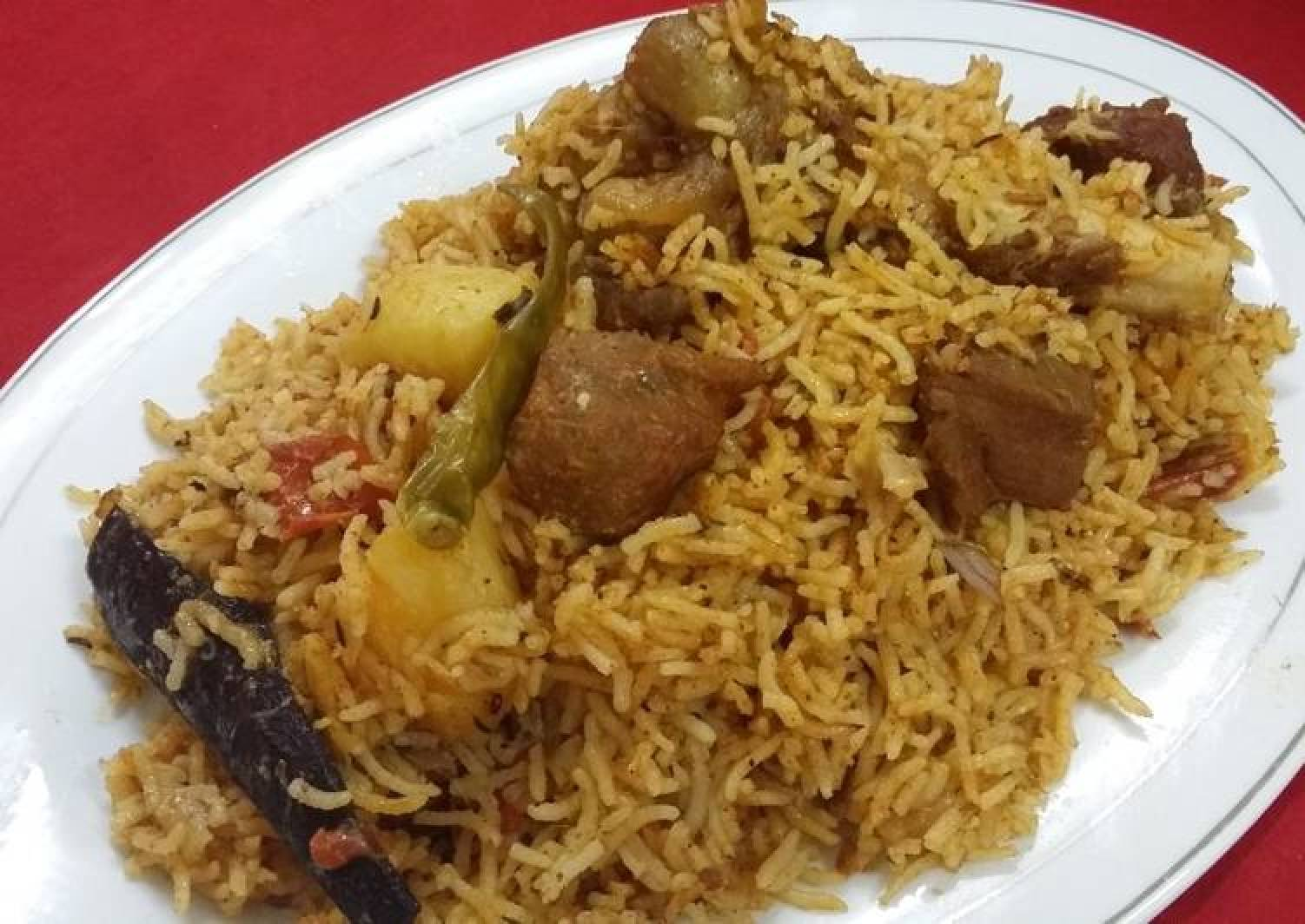 Hyderabadi Mutton Tahari/Hyderabadi Mutton Pulao