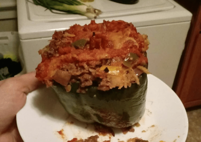 Stuffed Peppers & Veggies