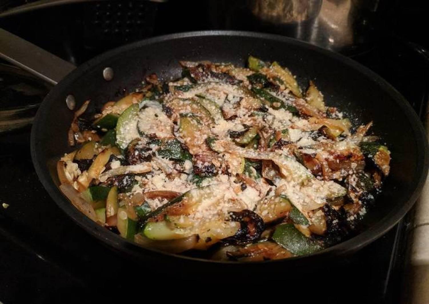 Pan-fried Zucchini Gratin