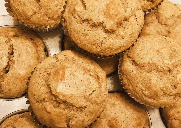Gluten Free Apple Cinnamon Muffins with Milled Flaxseed