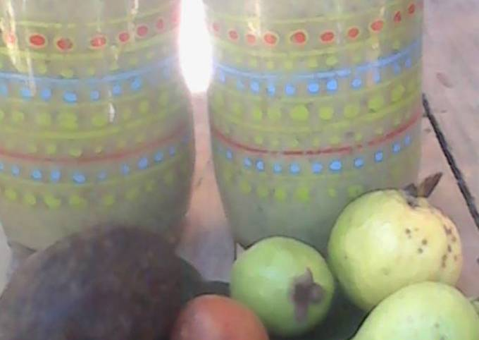 Simple Way to Make Perfect 3 avocados and guava smoothie