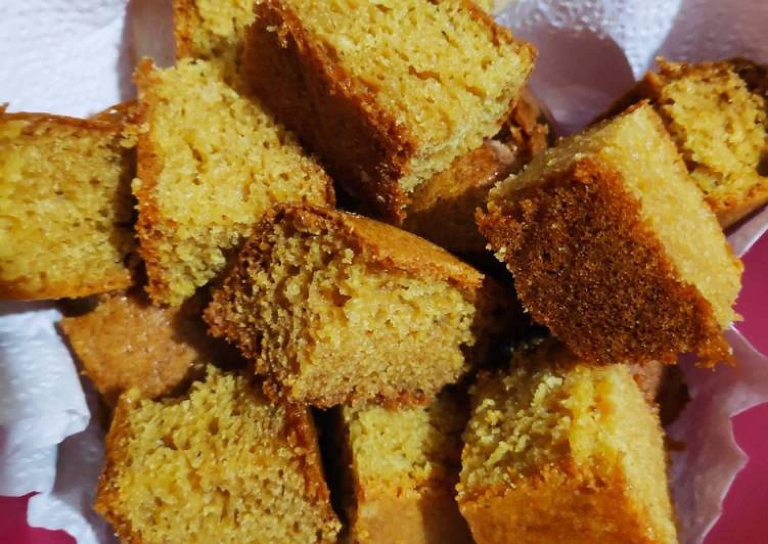 Wheat flour sponge cake