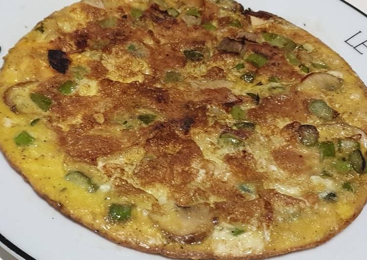 Omelette asperges champignons