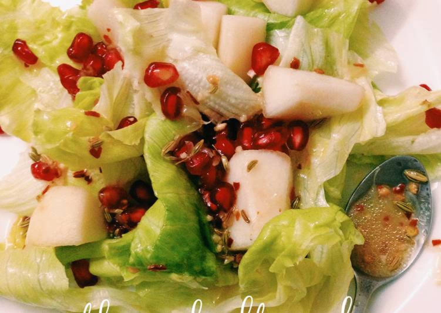 Pear Salad with Sweet lime/Mausambi Juice dressing