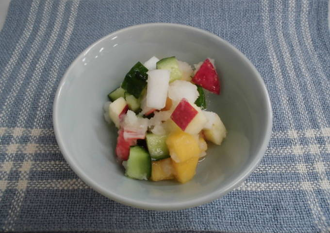 """Snow """"Namasu"""" with Crab-Flavored Seafood, Vegetables and Fruits"""