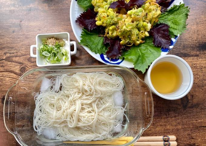 Step-by-Step Guide to Make Speedy Edamame Tempra for summer noodles lunch