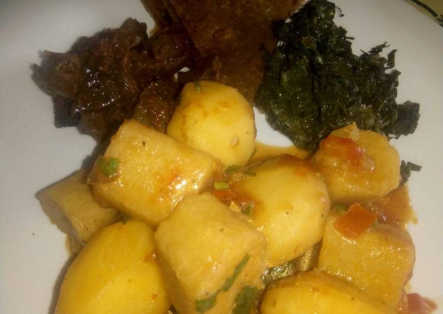 Potato and matoke stew