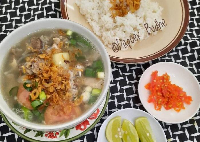 Resep Mudah 232. Sop Daging Kerbau Ala Dapoer Budhe Bikin Ngiler