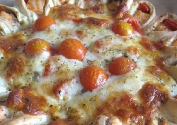 Открытый рыбный пирог с сыром и овощами - пошаговый рецепт ...