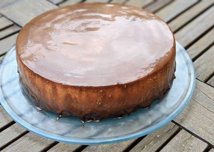 Gâteau entremet chocolat poire