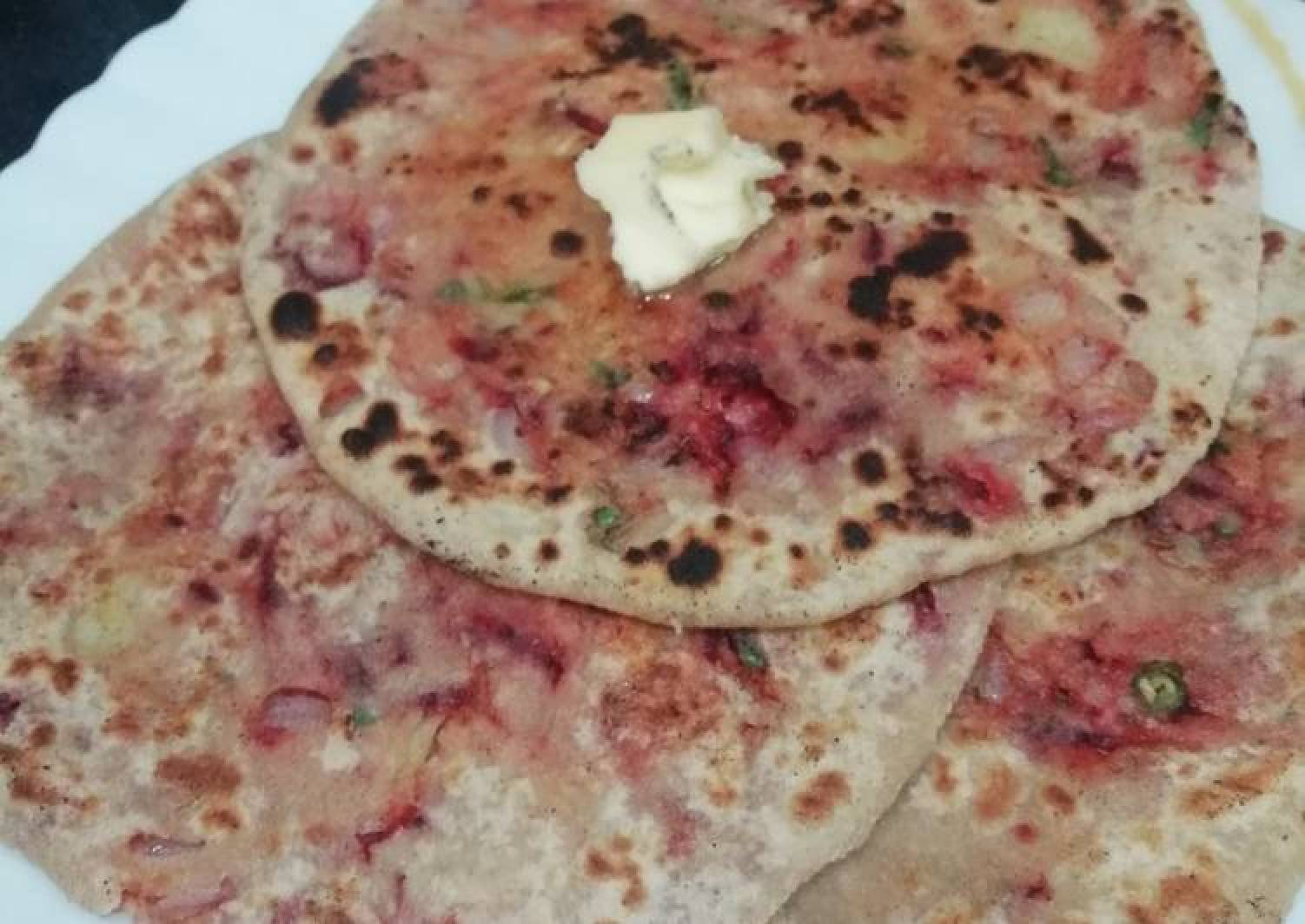 Beetroot Potato Paratha