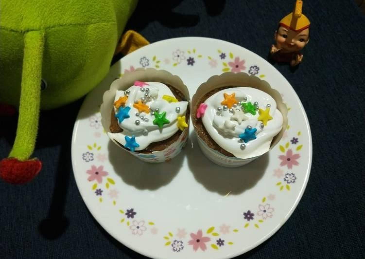 Eggless Coffee Cupcake
