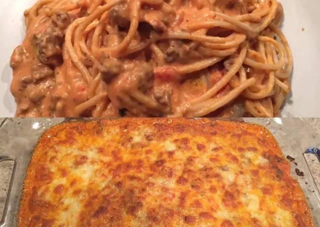 Creamy Baked Spaghetti