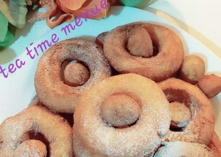 Simple donuts with my lovely tea