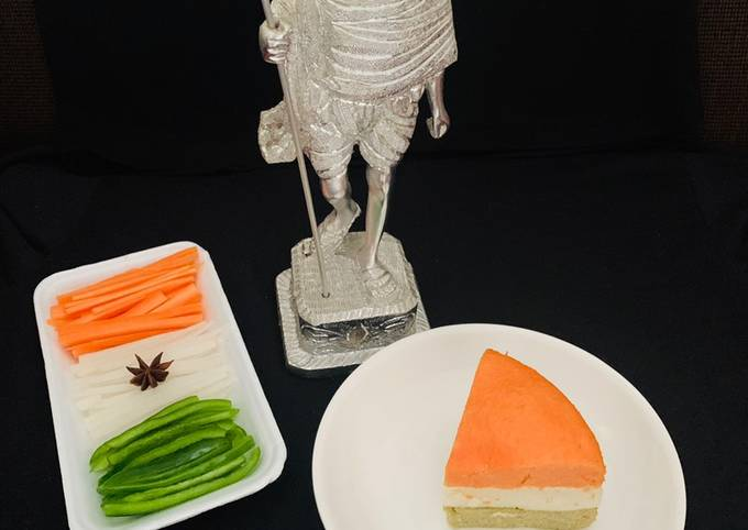 Recipe of Gordon Ramsay Tricolor Dhokla Cake