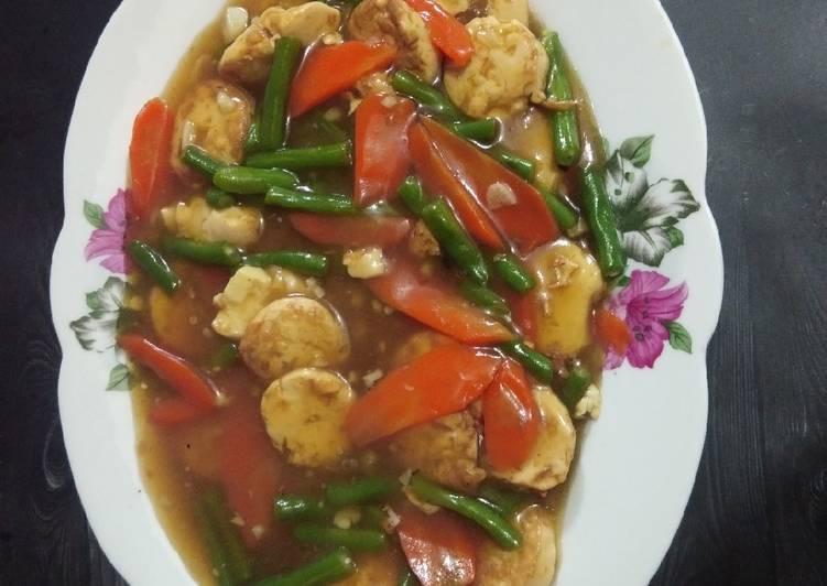 Tofu Buncis Wortel Saos Tiram