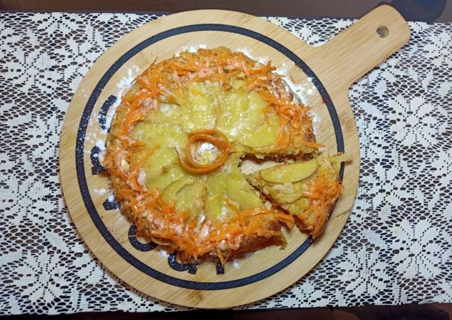 Upside Down Apple Carrot Cake