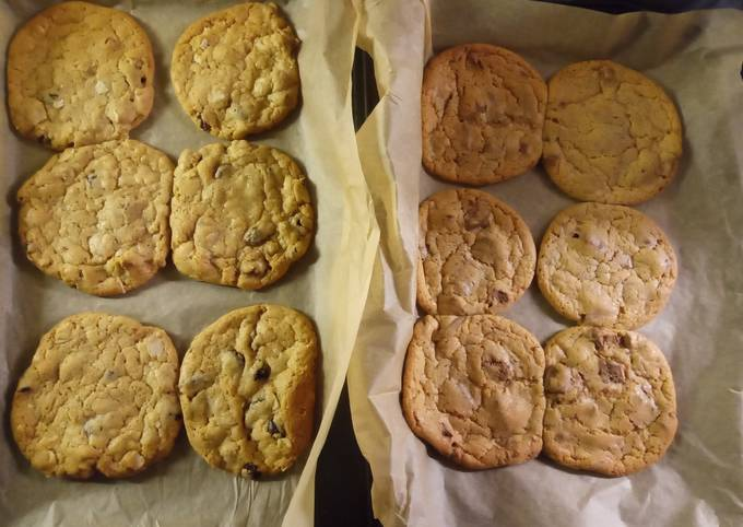 Recipe of Quick Cookies - 6 x Chocolate Chip and 6 x Fruit & Nut