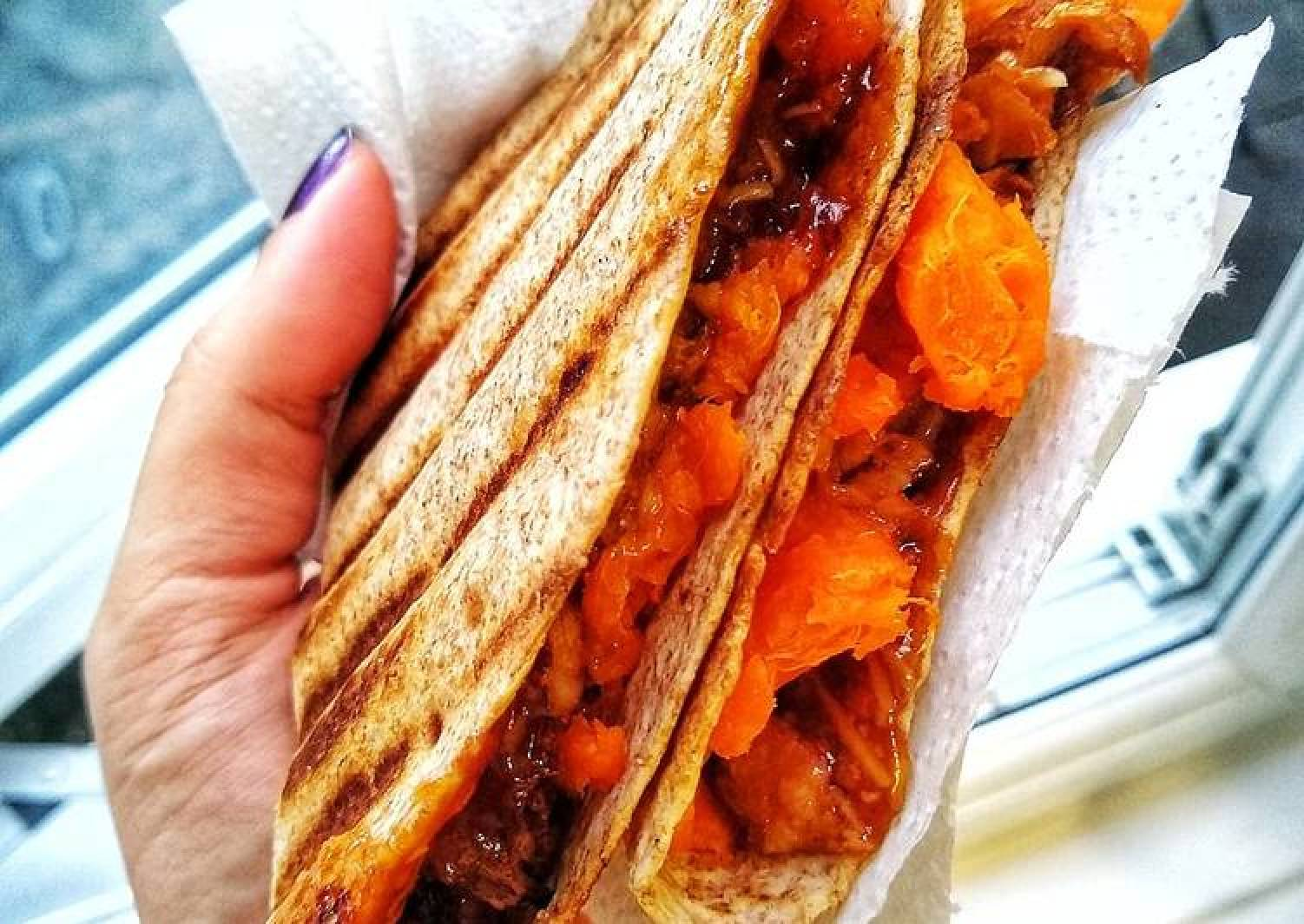 Sweet BBQ Veggie Pulled 'Pork' Quesadilla (Vegetarian)