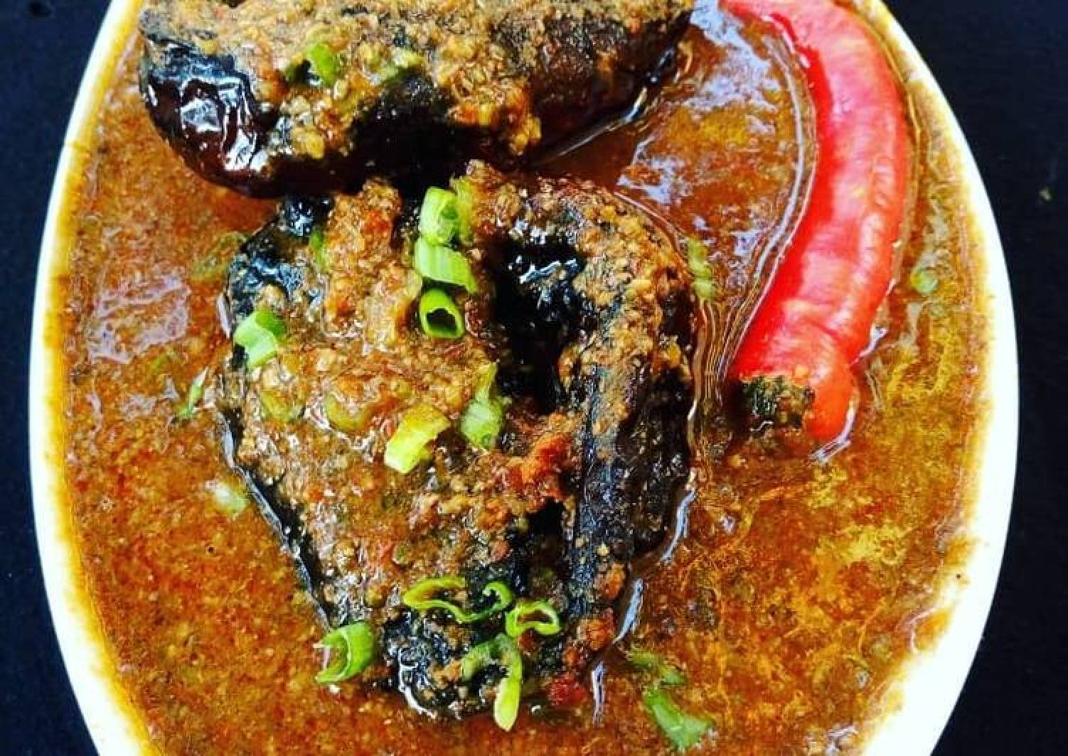 Dried okro soup/miyan bushashshen kubewa