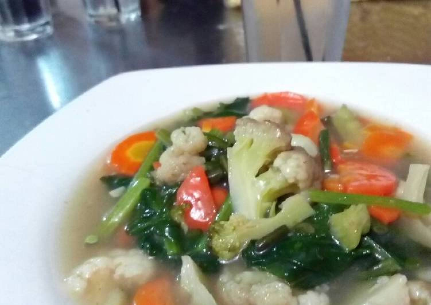 Resep Capcay Kuah Polosan Tanpa Ayam Ataupun Seafood Pure Sayuran Sempurna Best Recipes