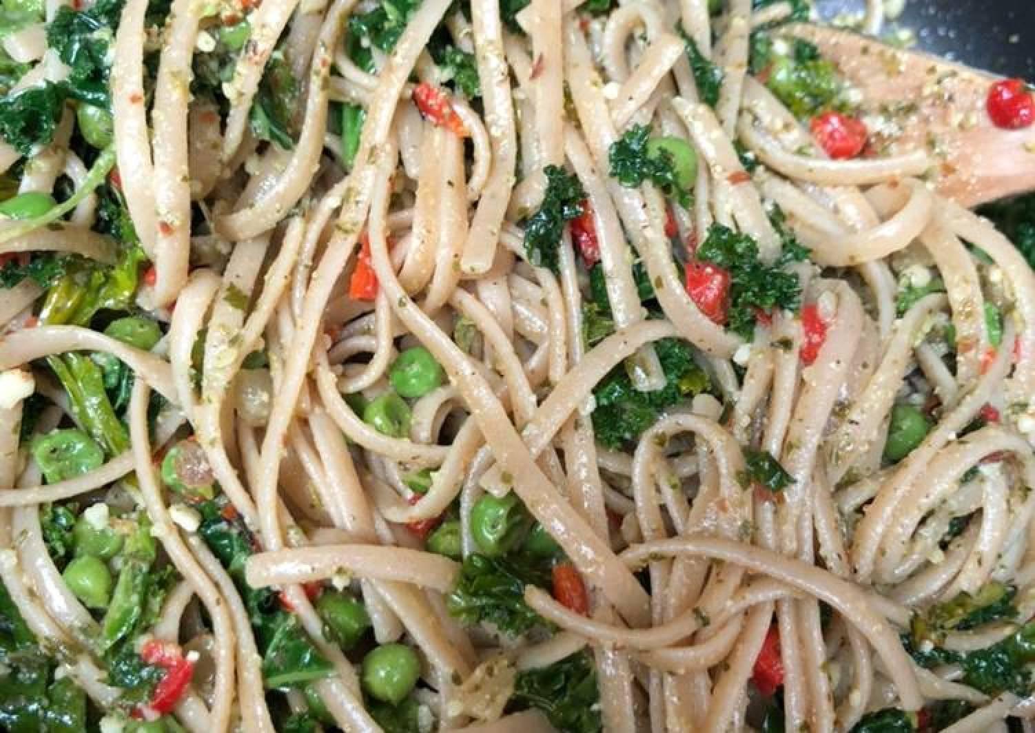 Vegan Pesto Linguine