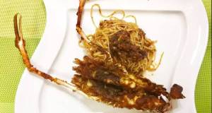 River Prawn And Pasta In Satay Sauce
