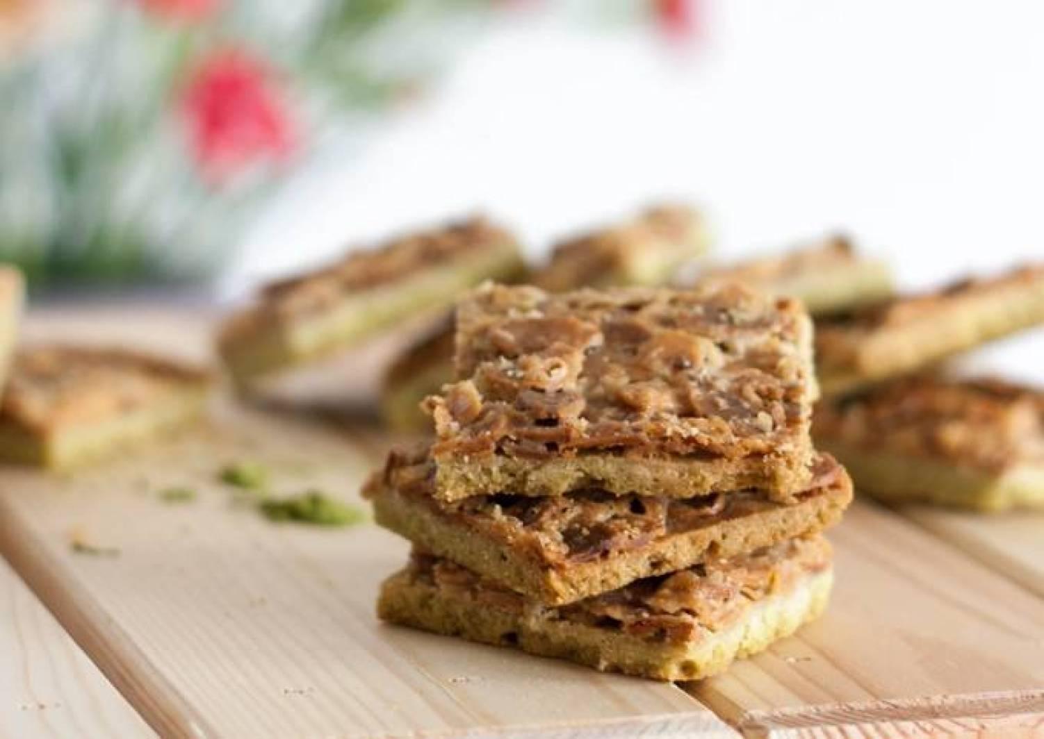 Florentiner-Kekse mit Matcha