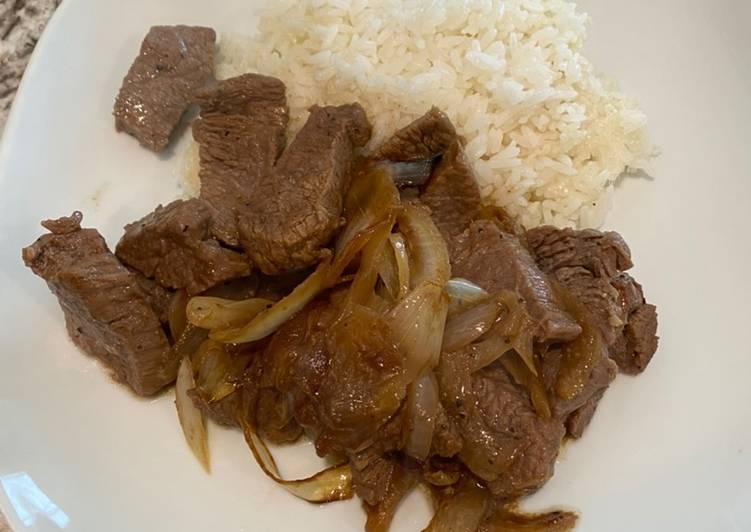 Recipe of Speedy Sautee! Sirloin steak