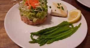Japanese-inspired salmon stack