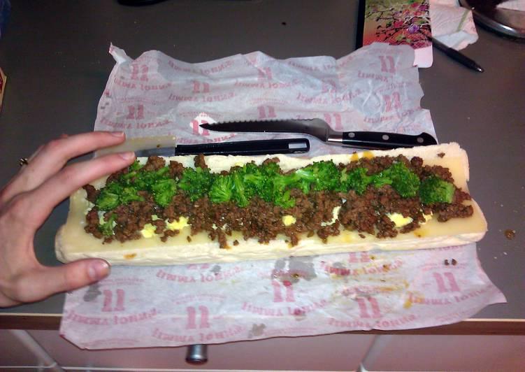 Spicy Beef Breakfast Sandwich