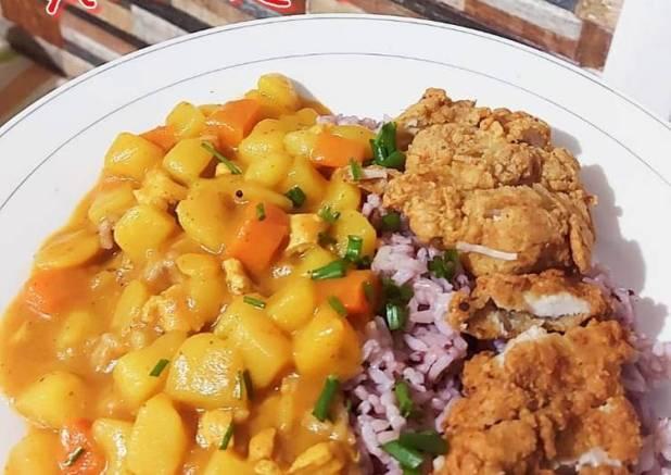 80. Nasi Kare Jepang + Ayam Katsu