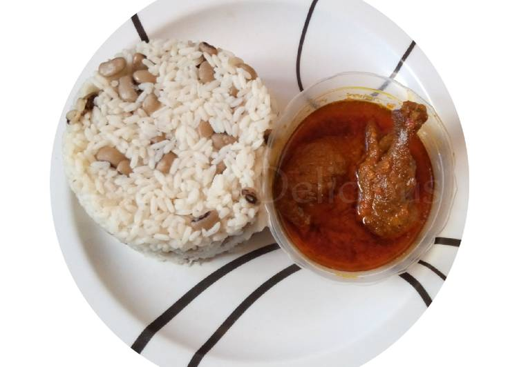 Rice and Beans with Chicken Stew