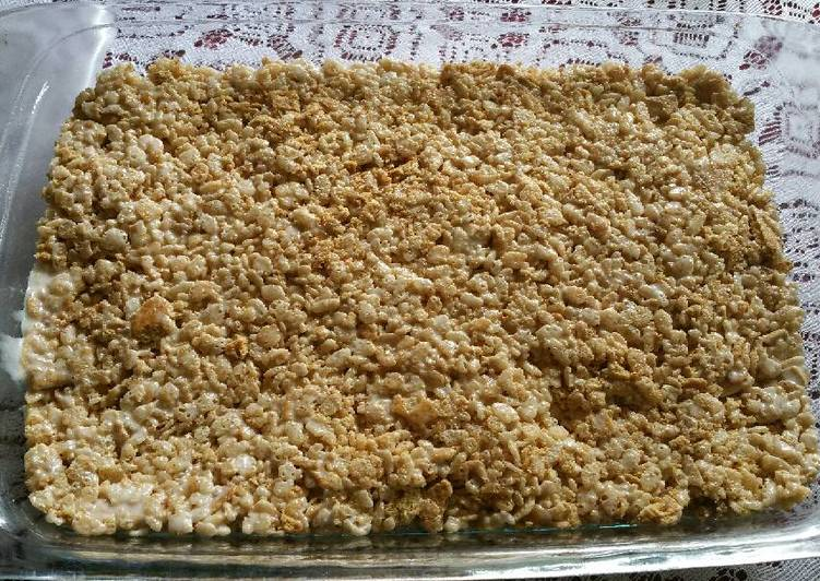 Maple Granola Rice Krispy Treats