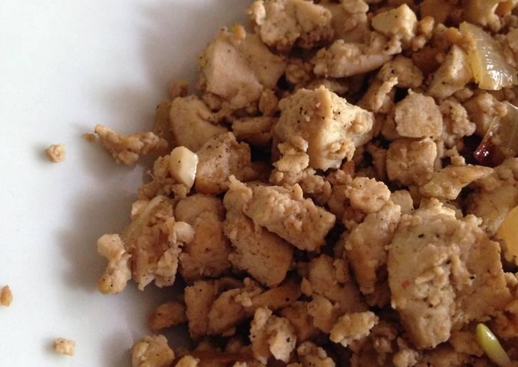 Teriyaki tofu scramble