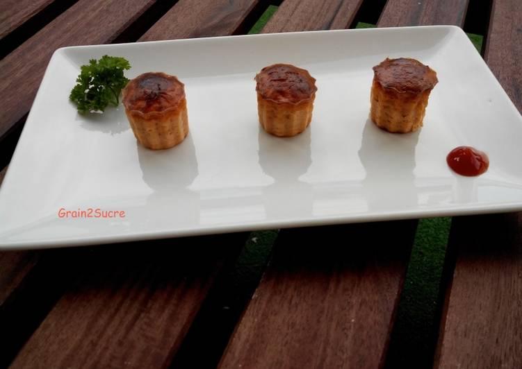 Mini cannelés au thon & à la tomate
